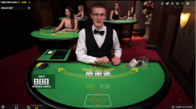 Poker na trzy karty na żywo w Mr.Green